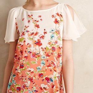 Maeve for anthropolgie silk floral top